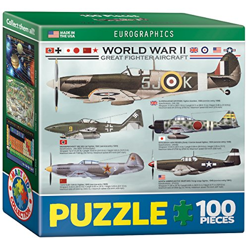 EuroGraphics WWII Aircraft Mini Puzzle (100-Piece) - 1