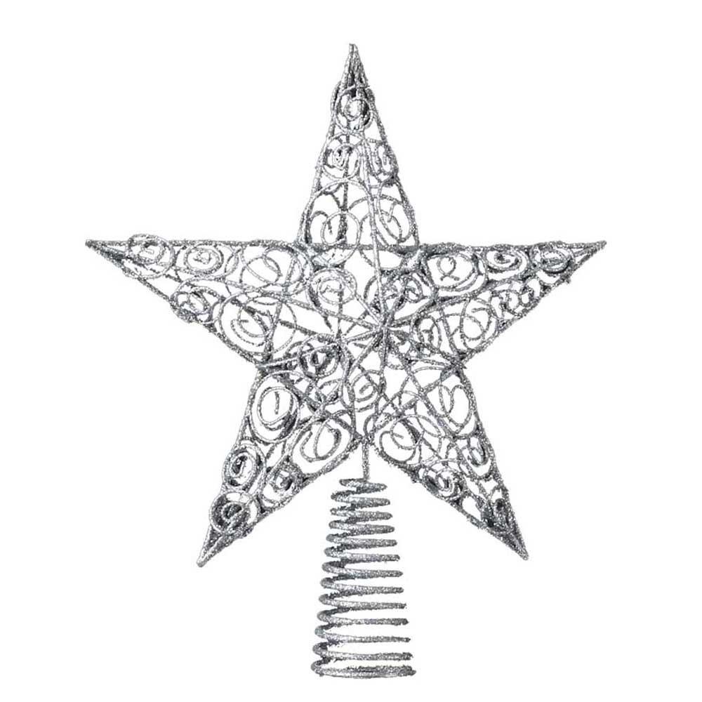 Christmas Stars Silver Tree Toppers | Christmas Wikii