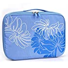 Sky Blue Floral Portable DVD Player Bag 9 inch - 10 inch fits Sony DVP-FX730 7-Inch Portable DVD Player