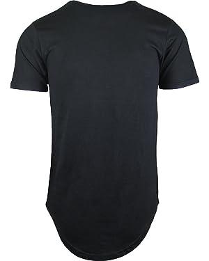 1aad551231b5 ShirtBANC Mens Hipster Hip Hop Long Drop Tail T Shirts (Black, M)