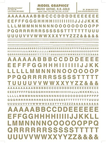Woodland Scenics Gothic Letters, Gold WOOMG722