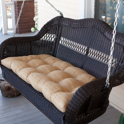 Coral Coast Coral Coast Casco Bay 42 X 19.5 Outdoor Cushion For Porch Swings And Gliders, Sand, All Other Materials front-233427