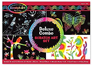 Melissa & Doug Deluxe Combo Scratch Art Set by Memtek Products