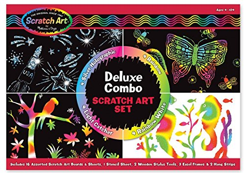 Put Melissa & Doug Deluxe Combo Scratch Art Set in your child's gluten free Easter Basket