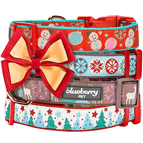 Blueberry-Pet-Holiday-Dog-Collar-Hand-made-Bow-Tie-in-Gift-Box-Accessories-for-Dogs-Cats