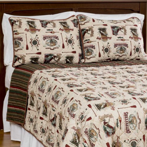 Field And Stream Gone Fishin' Quilt And Sham Set Full/Queen front-28430