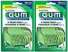 GUM Flossers - Extreme Fresh Mint - 75 ct - 2 pk