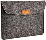 Product B013TGFTDY - Product title AmazonBasics 13-Inch Felt Laptop Sleeve - Charcoal