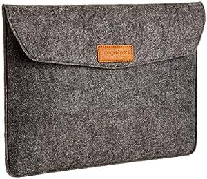 AmazonBasics 13-inch Felt Laptop Sleeve (Charcoal)