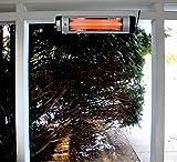 Versonel 1500 Watt Electric Wall or Ceiling Mount Indoor Outdoor Infrared Heater Patio Deck Garage