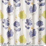 【デザインカーテン】洗える!ディズニー プーさん ジャンプ 既製サイズ幅100x丈200cm M-1133(パープル)