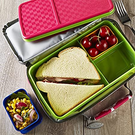 kids 39 bento lunch kit with insulated carrier. Black Bedroom Furniture Sets. Home Design Ideas