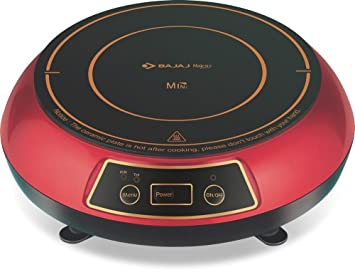 Bajaj 1200-Watt Induction Cooktop (Red & Black)