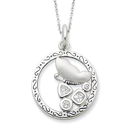 Promise of Patience, Butterfly Necklace in Silver