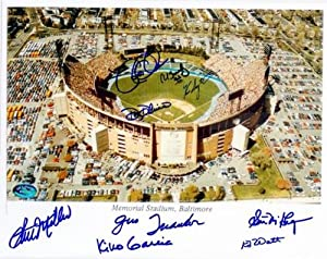 Baltimore Orioles Memorial Stadium autographed photo 8x10 signed by Stu Miller,...