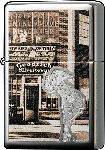 Zippo High Polish Chrome Vintage Windproof Lighter 0