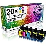 N.T.T.® 20 Stück kompatible XXL Druckerpatronen für Brother LC47 / LC950 / LC900 LC900BK , LC900C , LC900M , LC900Y