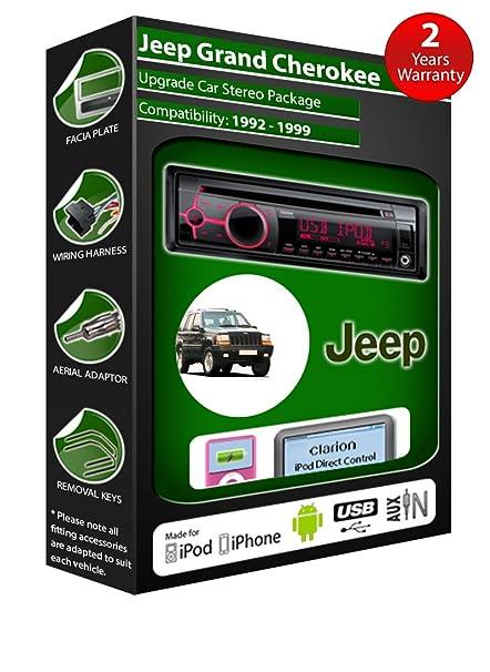 Jeep Grand Cherokee de lecteur CD et stéréo de voiture radio Clarion jeu USB pour iPod, iPhone, Android