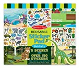 Melissa & Doug Habitats Reusable Sticker Pad. Art, Decorative, Animals, Book, Vinyl, Wall