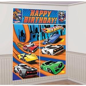 Hot Wheels 'Speed City' Giant Scene Setter Wall Decorating Kit (5pc)