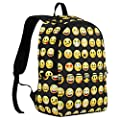 Veevan Cute Emoji Designer Backpacks Kids School Book Bags