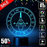 Gravity Falls Bill Cipher Wheel Lighting Decor Gadget Lamp + Sticker Decor for Perfect Set, Awesome Gift (MT026) By Holinox