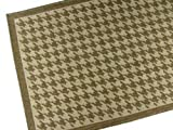 American Mills Houndstooth Polypropylene Indoor/Outdoor Area Rug, 2-Feet 8-Inch by 4-Feet 4-Inch, Chocolate