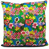 Benfan® Throw Pillow Covers with Decorative Pillowcase for Sofa Flower Canvas Cushions Cases Decorative Pillow Covers 20x20