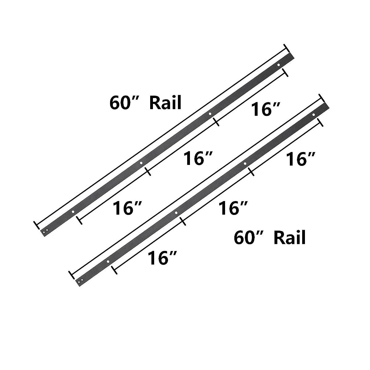 SMARTSTANDARD 10ft Double door Sliding Barn Door Hardware (Black) (I Shape Hangers) (2 x5 foot Rail)