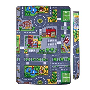 tapis de jeu route circuit enfant 120 x 80 cm. Black Bedroom Furniture Sets. Home Design Ideas
