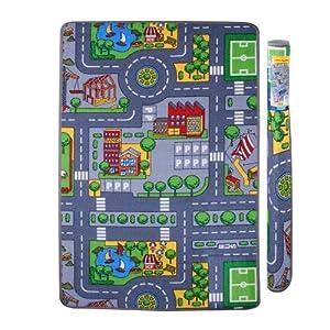 tapis de jeu route circuit enfant 120 x 80 cm cuisine maison. Black Bedroom Furniture Sets. Home Design Ideas