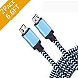 Android Charging Fast Charge Micro USB Charger Cord 6ft 2Pack Cable for Samsung Galaxy S6 S7 J3 J7 Edge Note 5 Moto Droid Turbo LG G4 V10 Stylo 2 3 HTC One Kindle Fire Tablet HD, Hdx 6