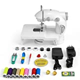 Mini Sewing Machine,Medelon Portable Electric Sewing Machine with Lamp and Thread Cutter, Foot Pedal and Extension Table