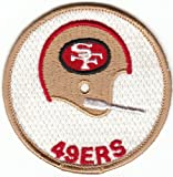 Vintage 1970s San Francisco SF 49ers 3 inch 1-Bar Helmet Patch (sew on only)