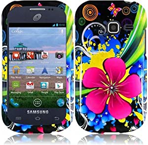 Samsung Galaxy Centura S738C ( Straight Talk , Net10 , Tracfone ) Phone Case Accessory Terrific Flower Hard Snap On Cover with Free Gift Aplus Pouch