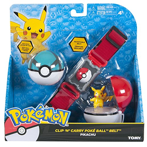 TOMY-Toys-unisex-adult-Pokemon-Clip-n-Carry-Poke-Ball-Belt-Standard