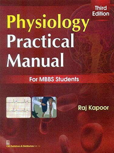 Physiology Practical Manual , 3E (Pb 2014)