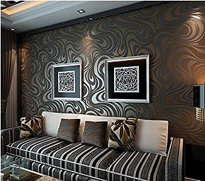 qihang modern luxury abstract curve 3d wallpaper roll mural papel de