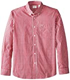 Dockers Mens Long-Sleeve Gingham Button-Front Shirt