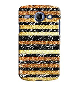 Omnam Tiger Printed Stripes Pattern Printed Designer Back Cover Case For Samsung Galaxy Core i8262