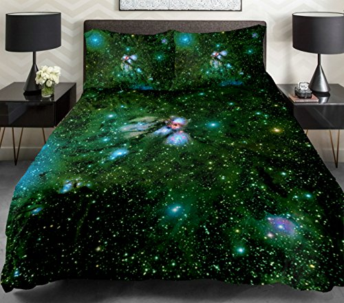 Anlye Galaxy Quilt Cover Galaxy Duvet Cover Galaxy Sheets Space Sheets Outer Space Bedding Set With 2 Matching Pillow Covers (Full) front-847013