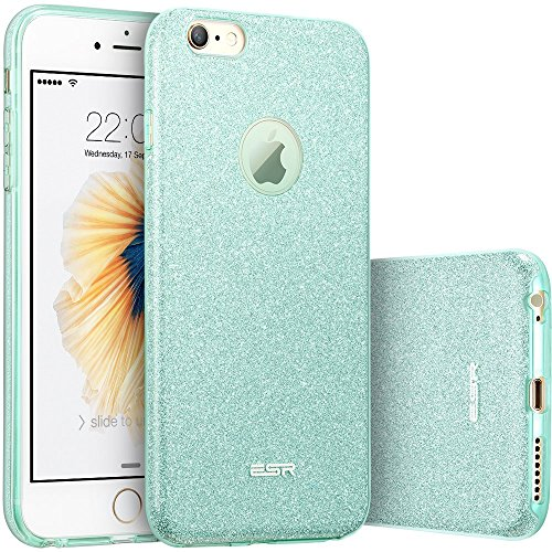 iPhone 6s Plus Case, iPhone 6 Plus Case, ESR Bling Glitter Back Cover Protective Bumper [Slim Fit ] Case for 5.5 inches iPhone 6s Plus / 6 Plus (Green) (Electronics I Phone 6 Plus Cases compare prices)