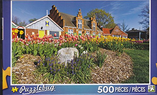 Puzzlebug 500 Piece Puzzle ~ Colorful Tulips of Windmill Island, Michigan