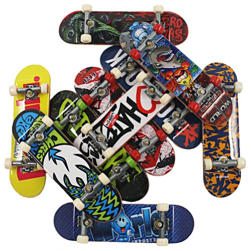 Lot 20 PCS Random Style Tech Deck Finger Skateboards Trucks Techdeck Loose Toy (Buy Reward: 1pcs Littlest Pet Shop Bird Rare Figure)