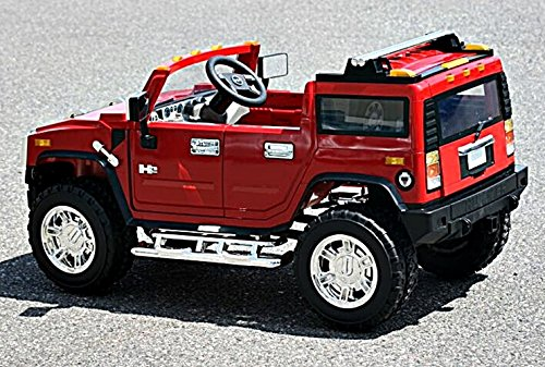 electric battery operated ride on car for kids hummer h2 model 1206 red