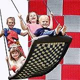Große Mehrkindschaukel STANDARD silber/rot für 4 Kinder
