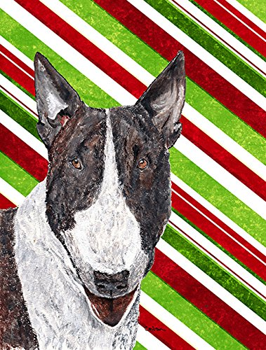 Bull Terrier Candy Cane Christmas Flag Garden Size From Caroline'S Treasures front-95263