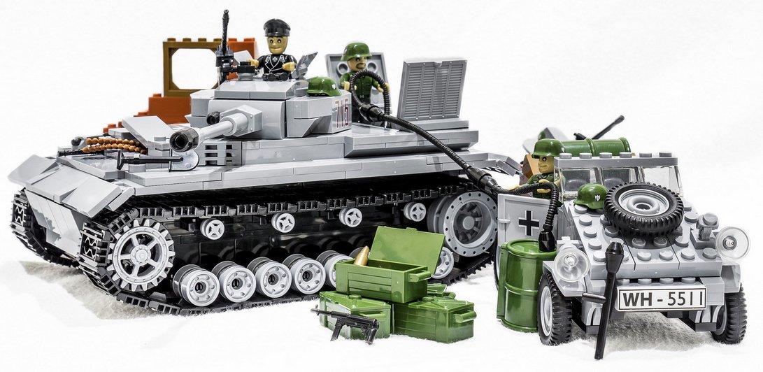 Cobi 55112461 – Versorgungstrupp Spar Paket, Bausteine Panzer IV Ausf. G & VW Kübelwagen Typ 82 inkl. Häuserruine! günstig kaufen