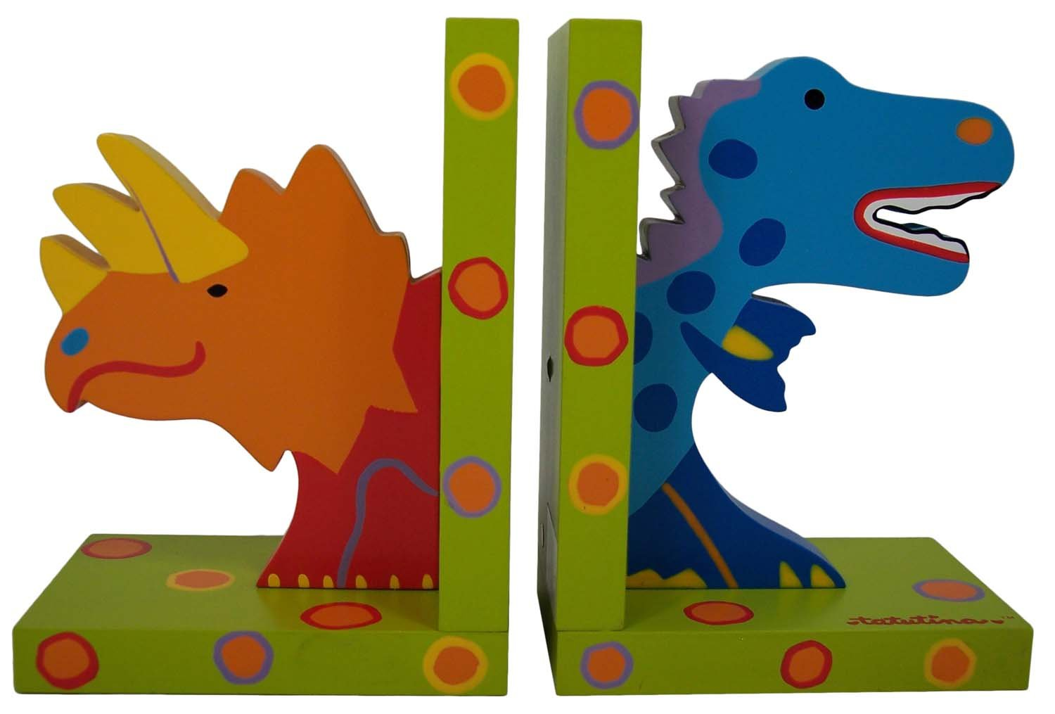 Tatutina Wood Dinosaur Bookends