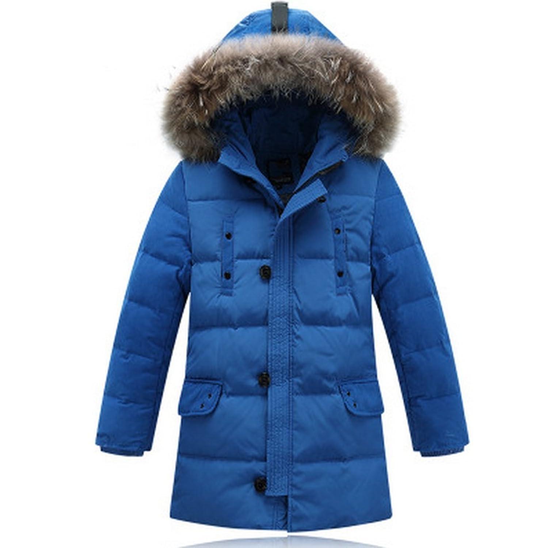 Moin Daunenjacke Kinder Jungen Winterjacke mit Fellkapuze Verdickung Lang Jacket Wintermantel Mantel Parka Outerwear Oberbekleidung Winter Kleidung günstig